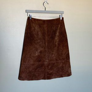 Danier brown suede high waisted skirt size 10